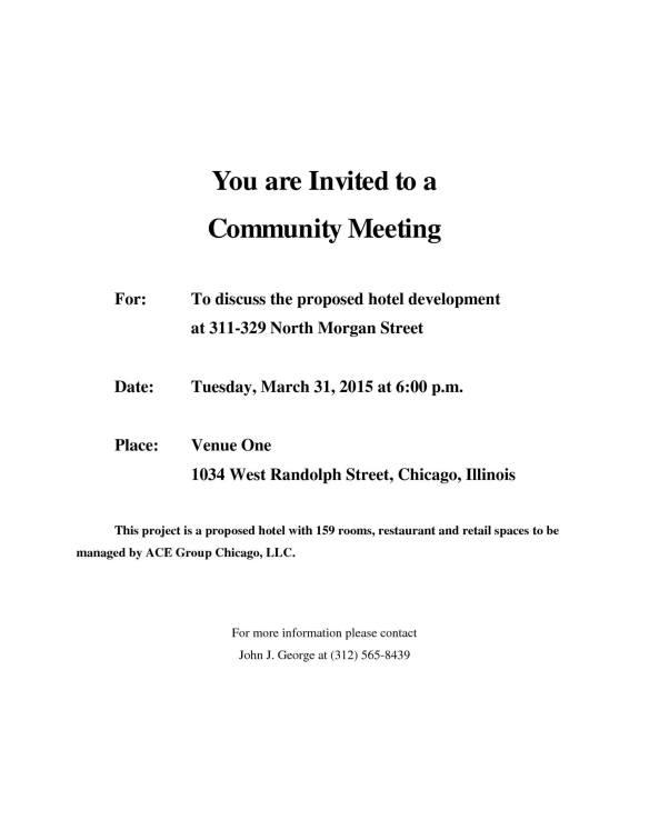 ace hotel community meeting